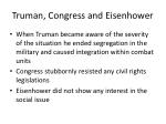 truman congress and eisenhower