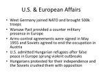 u s european affairs