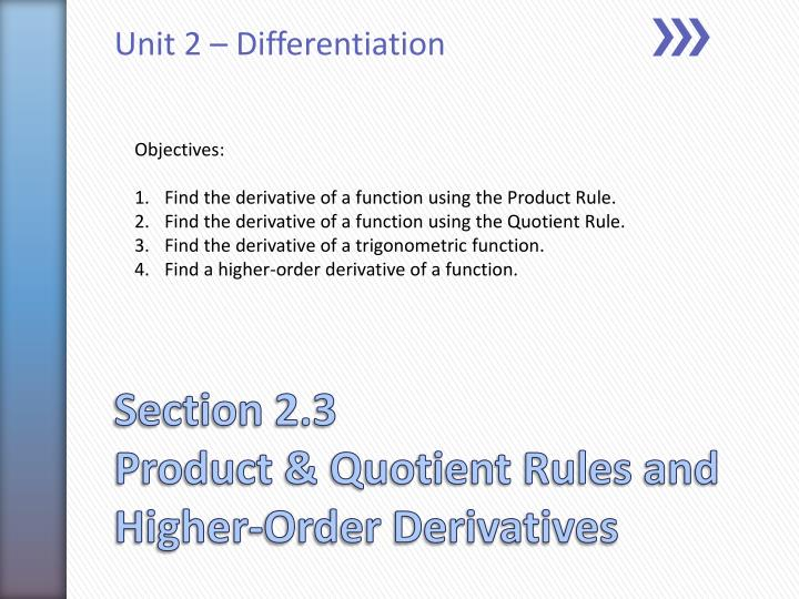 unit 2 differentiation n.
