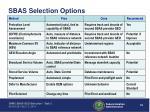 sbas selection options1