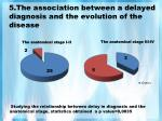 5 the association between a delayed diagnosis and the evolution of the disease