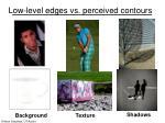 low level edges vs perceived contours