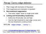 recap canny edge detector