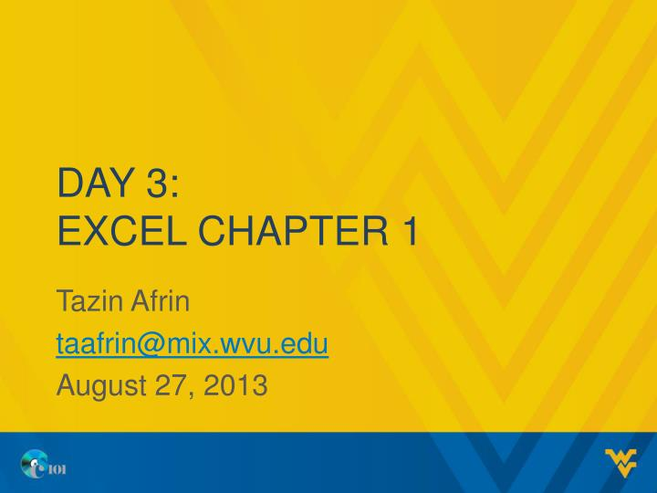 day 3 excel chapter 1 n.