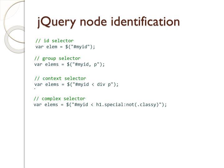 jQuery node identification