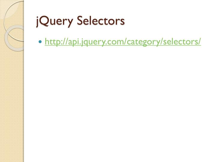 jQuery Selectors