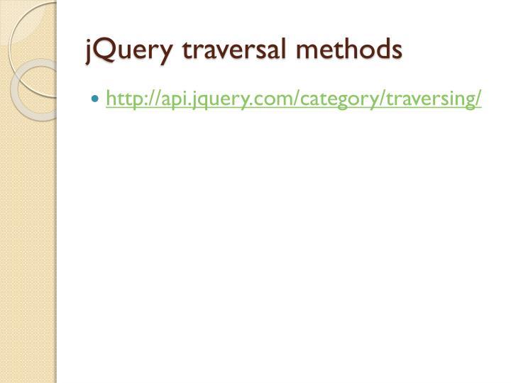 jQuery traversal methods