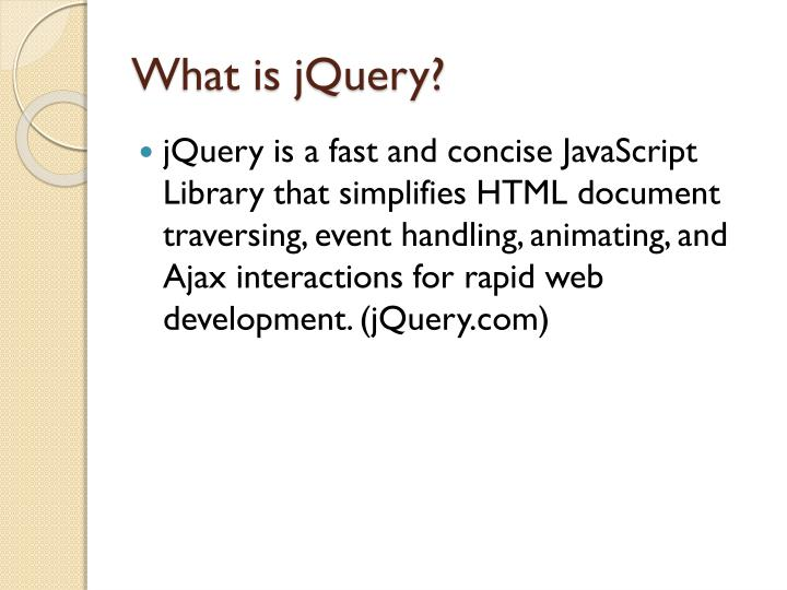 What is jquery