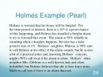 holmes example pearl