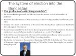 the system of election into the bundestag1
