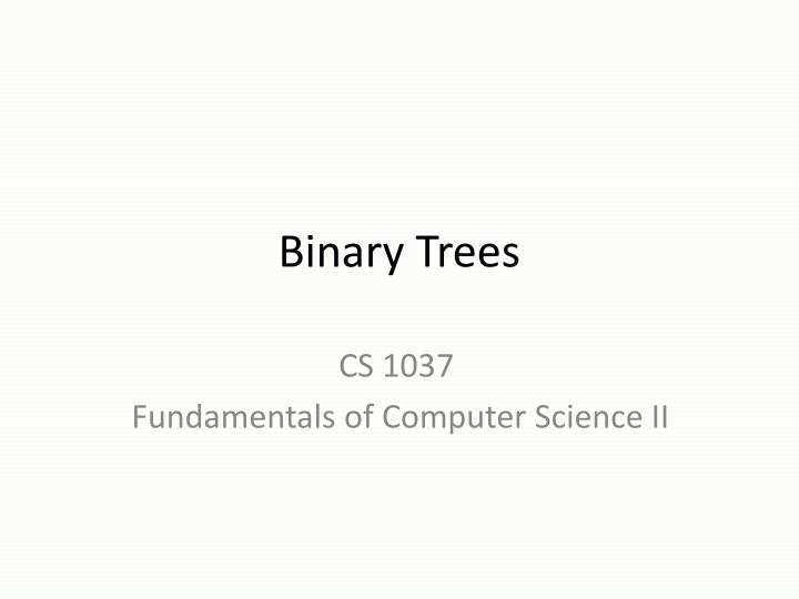 binary trees n.