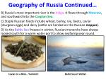 geography of russia continued