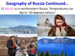 geography of russia continued1