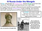 iv russia under the mongols
