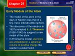 early models of the atom