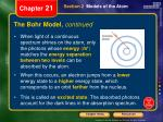 the bohr model continued