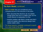 the bohr model continued2