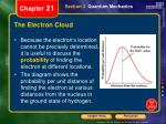 the electron cloud