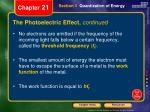 the photoelectric effect continued