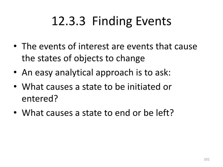 12.3.3  Finding Events