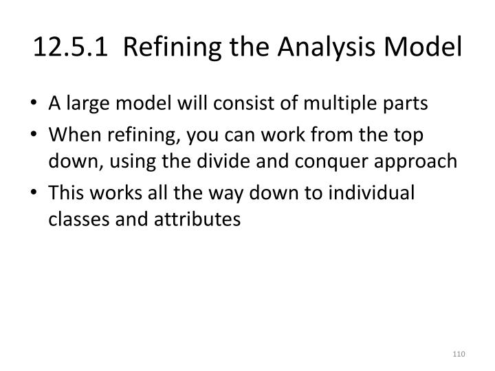 12.5.1  Refining the Analysis Model