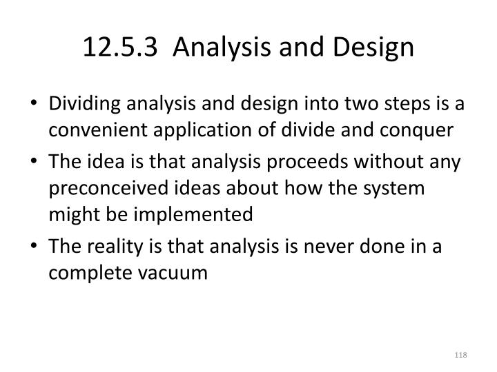 12.5.3  Analysis and Design