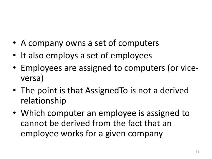 A company owns a set of computers