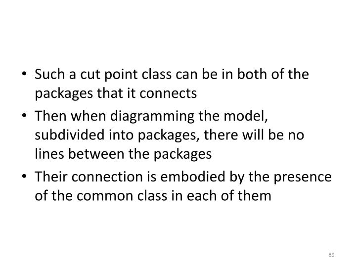 Such a cut point class can be in both of the packages that it connects