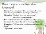 does the poem use figurative language