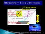 string theory extra dimensions