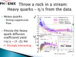 throw a rock in a stream heavy quarks s from the data