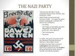 the nazi party