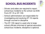 school bus incidents