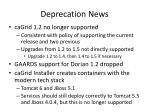 deprecation news