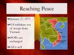 reaching peace