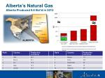 alberta s natural gas alberta produced 9 8 bcf d in 2012