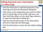 adding keywords and a description to a web page1