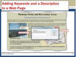 adding keywords and a description to a web page2