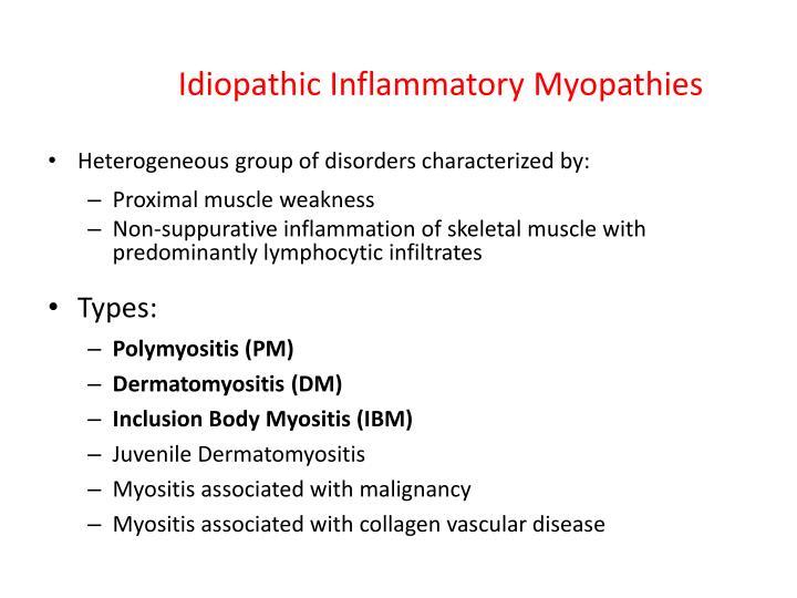 Idiopathic Inflammatory