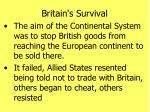 britain s survival