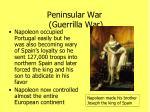 peninsular war guerrilla war