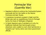 peninsular war guerrilla war1