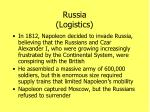 russia logistics