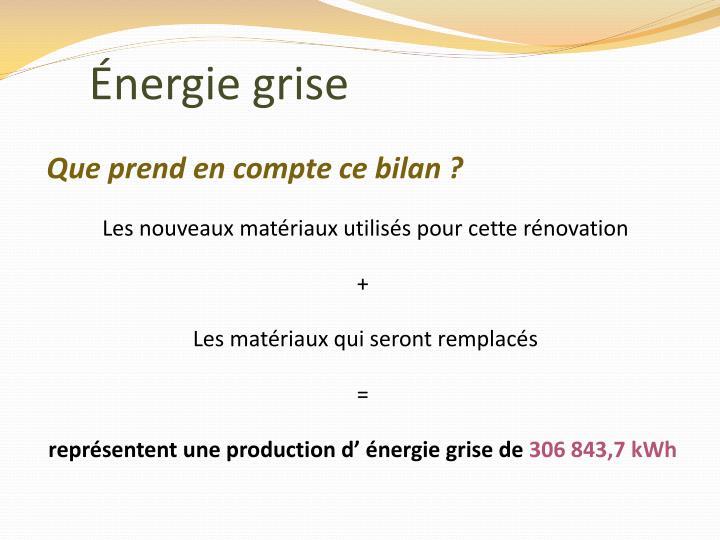 Énergie grise