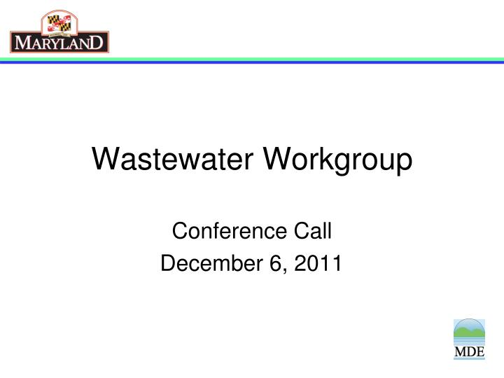 wastewater workgroup n.