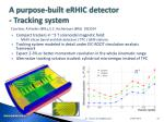 a purpose built erhic detector tracking system