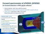 forward spectrometer of sphenix fs phenix for forward detection in rhic pp pa collisions