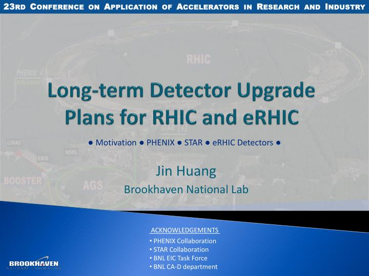 long term detector upgrade plans for rhic and erhic n.