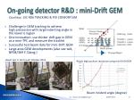 on going detector r d mini drift gem