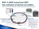 rhic e rhic around year 2025 one realization of electron ion collider